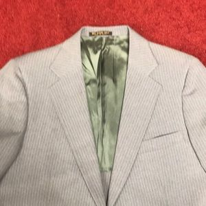 Other - 40/34 3 piece suit grey/blue with pinstripes